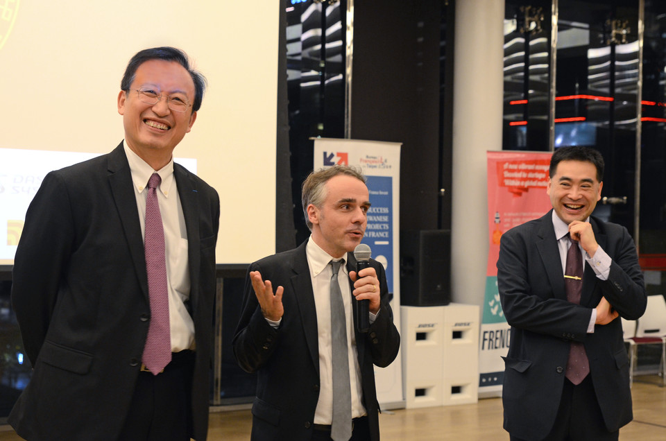 5th French Tech Night: on the left, F. Wu /Vice Minister of MOFA